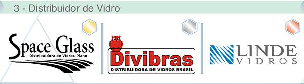 Categoria - Distribuidores de Vidros - OURO: SPACE GLASS, PRATA: DIVIBRAS, BRONZE: LINDEVIDROS