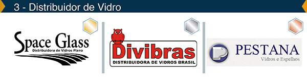 Categoria – Distribuidores de Vidros – Ouro: Space Glass, Prata: Divibras, Bronze: Pestana